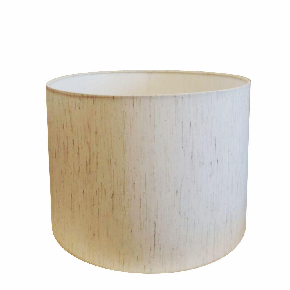 Cúpula em Tecido Cilindrica Abajur Luminária Cp-4099 40x25cm Linho Bege
