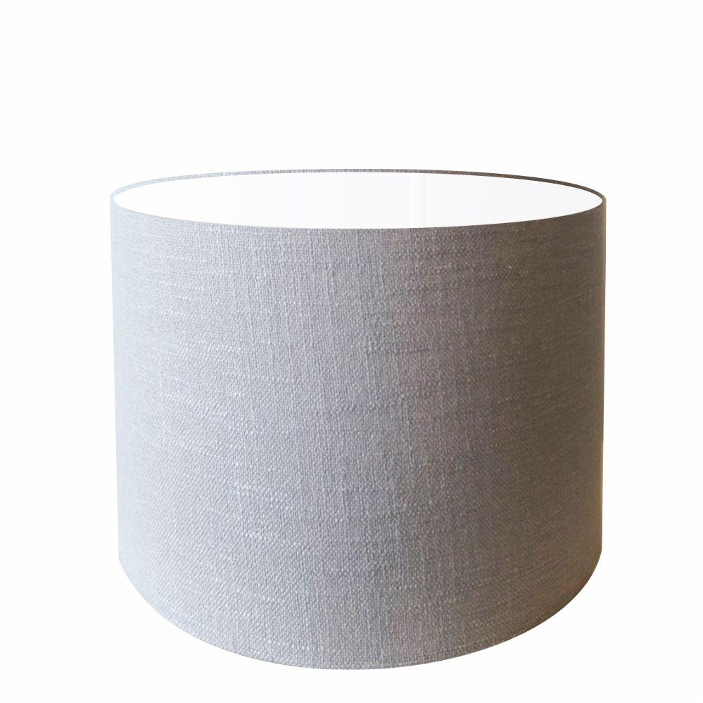 Cúpula em Tecido Cilindrica Abajur Luminária Cp-4099 40x25cm Rustico Cinza
