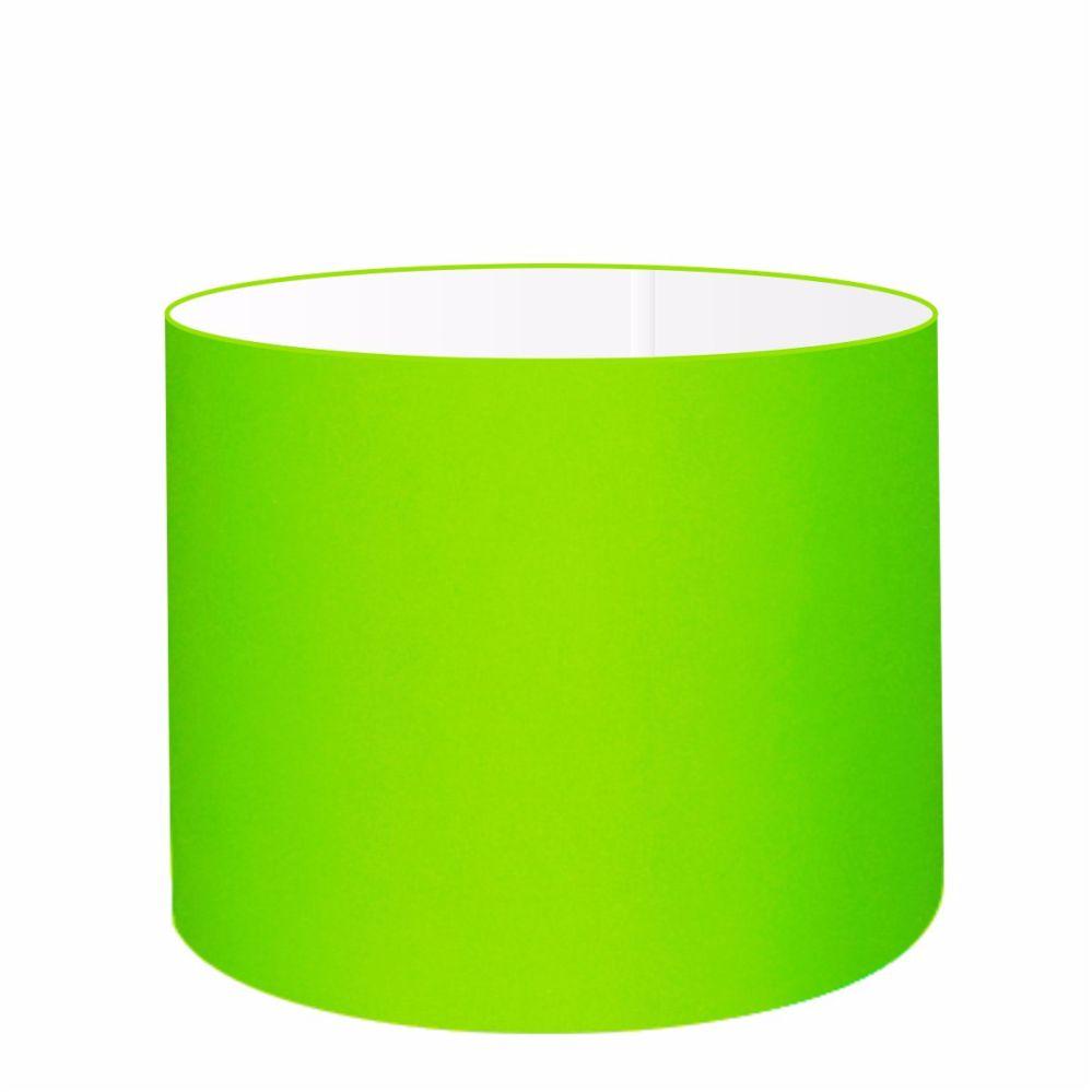 Cúpula em Tecido Cilindrica Abajur Luminária Cp-4099 40x25cm Verde Limão