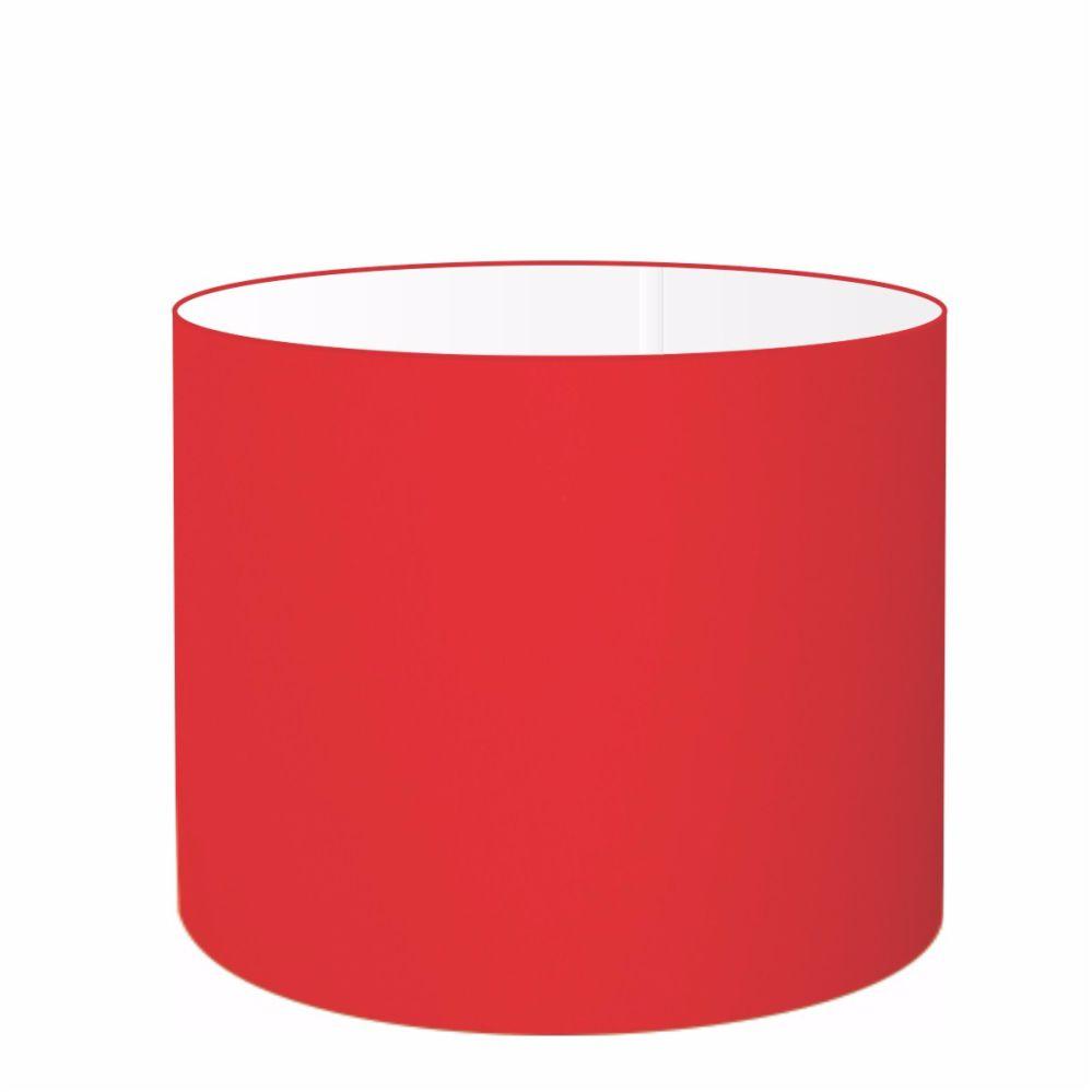 Cúpula em Tecido Cilindrica Abajur Luminária Cp-4099 40x25cm Vermelho