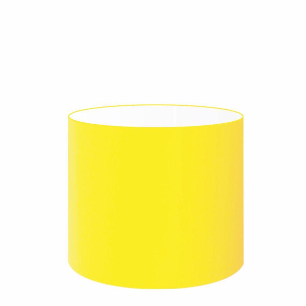 Cúpula em Tecido Cilindrica Abajur Luminária Cp-4113 30x25cm Amarelo