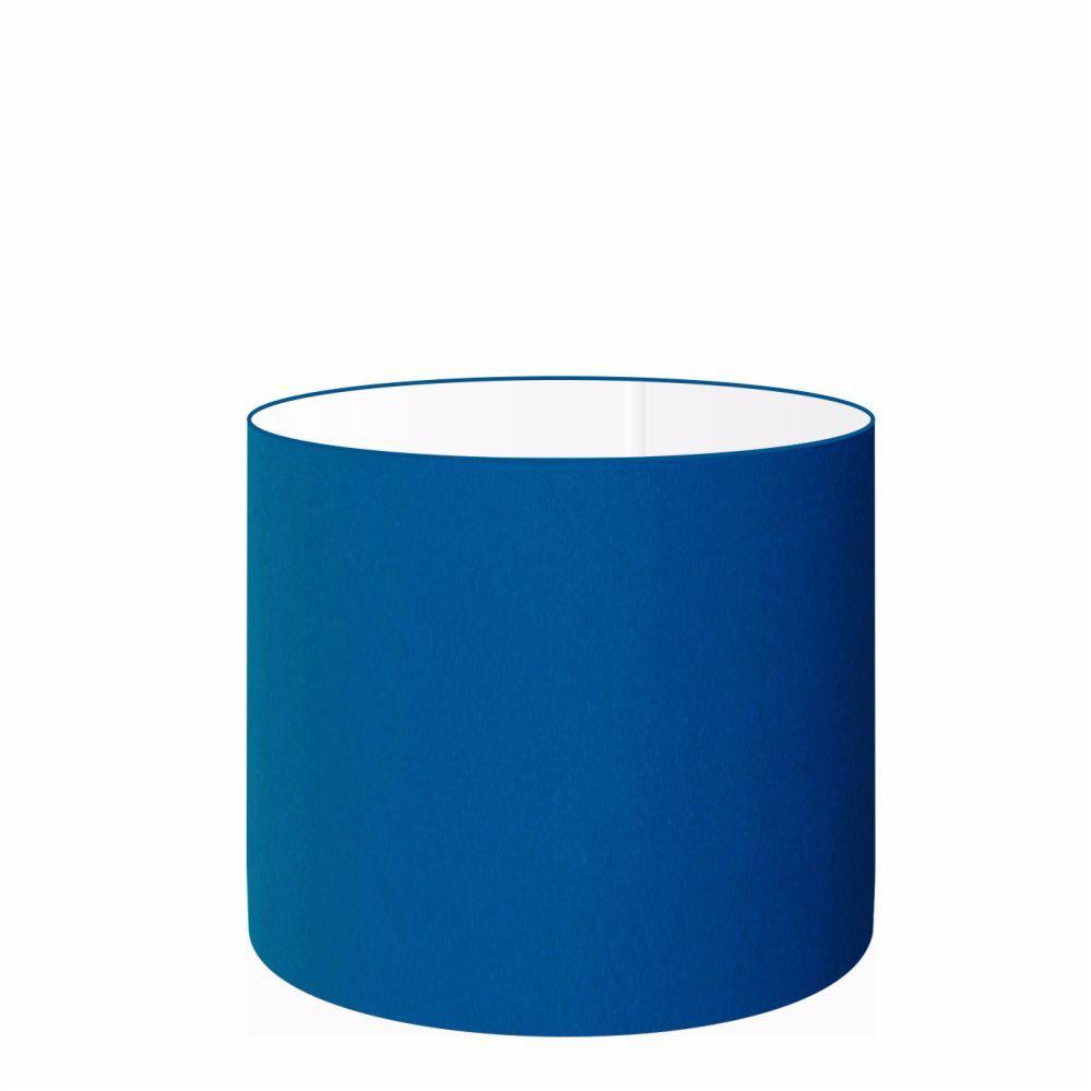 Cúpula em Tecido Cilindrica Abajur Luminária Cp-4113 30x25cm Azul Marinho