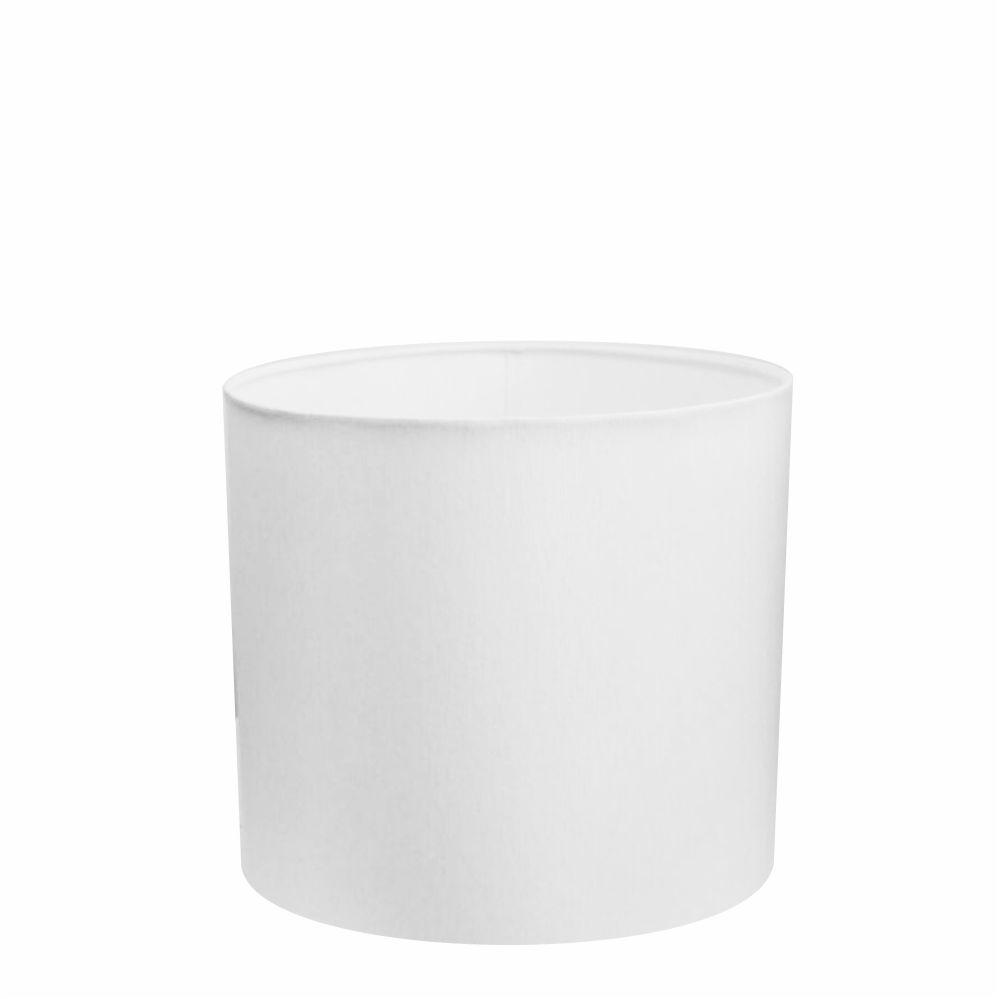 Cúpula em Tecido Cilindrica Abajur Luminária Cp-4113 30x25cm Branco