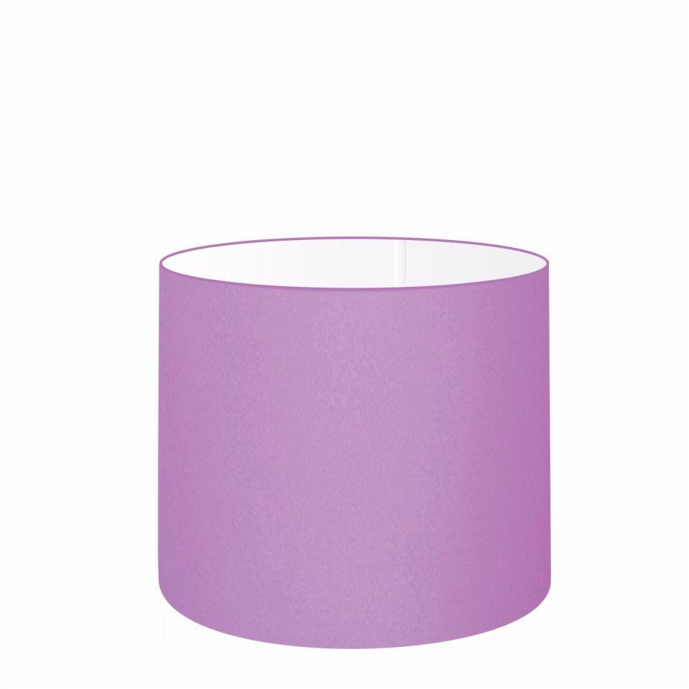 Cúpula em Tecido Cilindrica Abajur Luminária Cp-4113 30x25cm Lilás