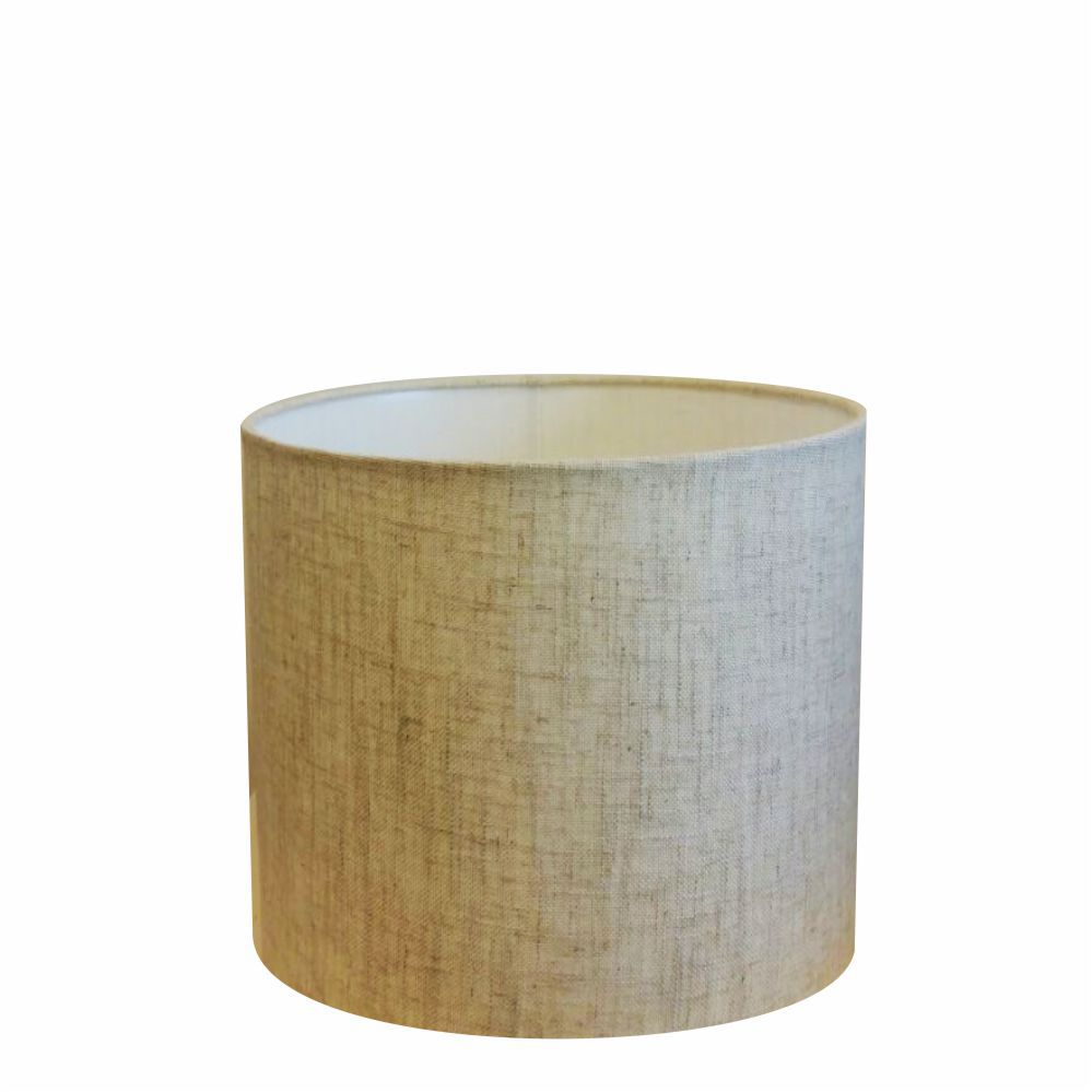 Cúpula em Tecido Cilindrica Abajur Luminária Cp-4113 30x25cm Rustico Bege