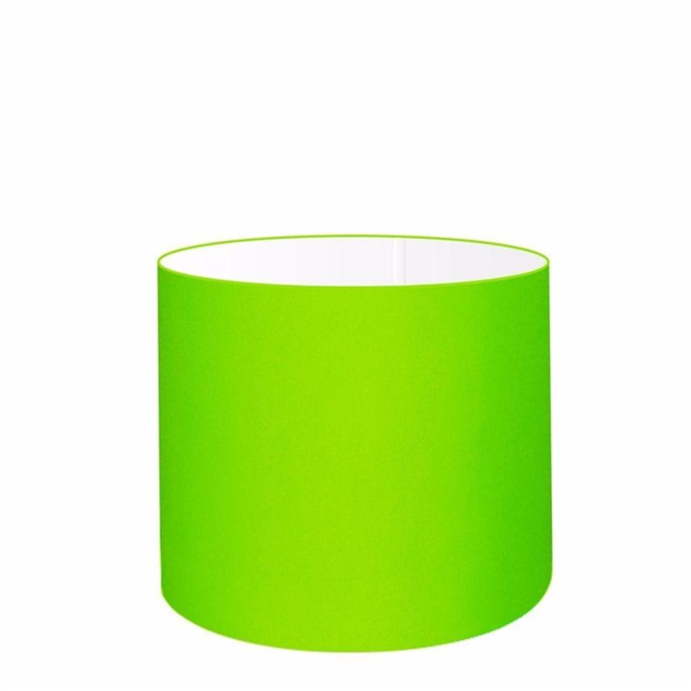 Cúpula em Tecido Cilindrica Abajur Luminária Cp-4113 30x25cm Verde Limão