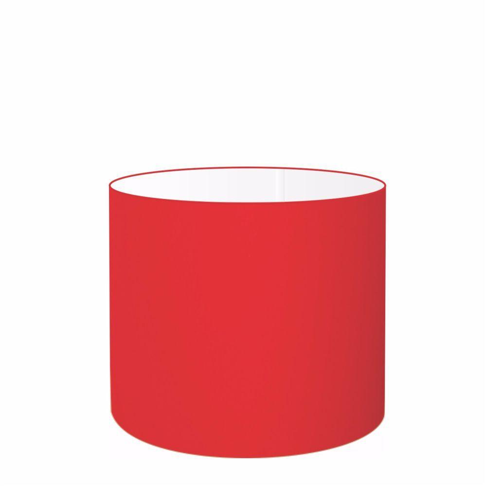 Cúpula em Tecido Cilindrica Abajur Luminária Cp-4113 30x25cm Vermelha
