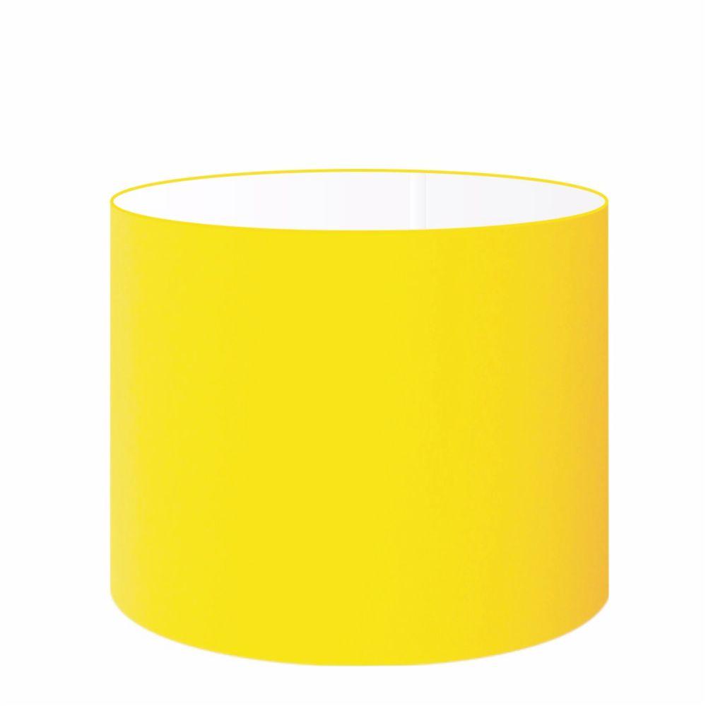 Cúpula em Tecido Cilindrica Abajur Luminária Cp-4146 40x30cm Amarelo