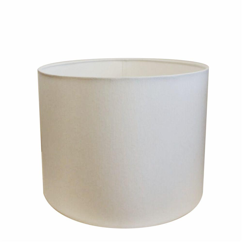 Cúpula em Tecido Cilindrica Abajur Luminária Cp-4146 40x30cm Branco