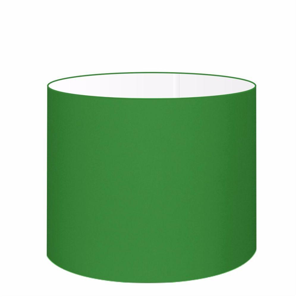 Cúpula em Tecido Cilindrica Abajur Luminária Cp-4146 40x30cm Verde Folha