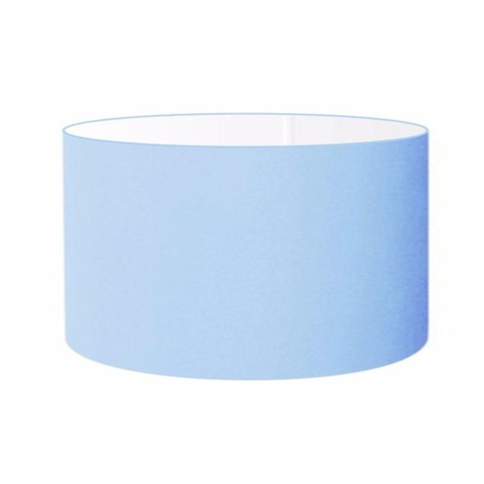 Cúpula em Tecido Cilindrica Abajur Luminária Cp-4189 50x30cm Azul Bebê