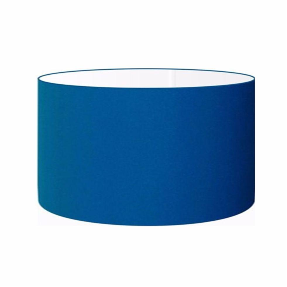 Cúpula em Tecido Cilindrica Abajur Luminária Cp-4189 50x30cm Azul Turquesa