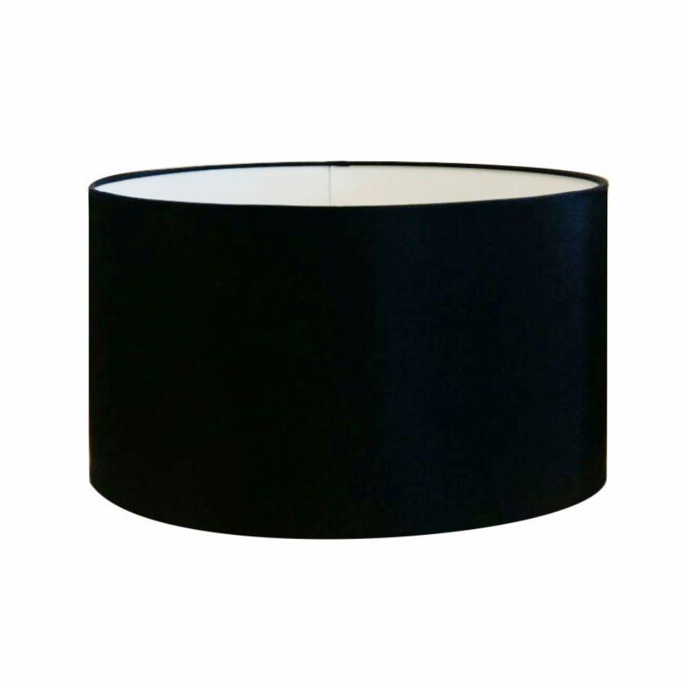 Cúpula em Tecido Cilindrica Abajur Luminária Cp-4189 50x30cm Preto