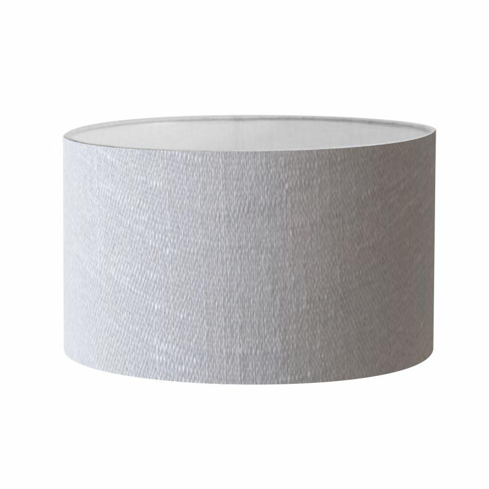 Cúpula em Tecido Cilindrica Abajur Luminária Cp-4189 50x30cm Rustico Cinza