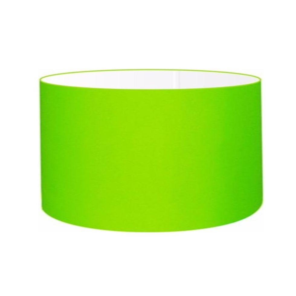 Cúpula em Tecido Cilindrica Abajur Luminária Cp-4189 50x30cm Verde Limão