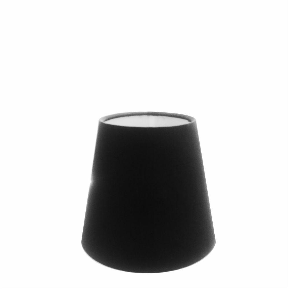 Cúpula em Tecido Cone Abajur Luminária Cp-2004 14/08x13cm Preto
