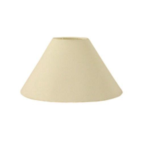 Cúpula em Tecido Cone Abajur Luminária Cp-4078 25/40x15cm Algodão Crú