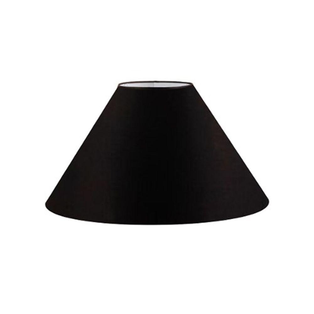 Cúpula em Tecido Cone Abajur Luminária Cp-4078 25/40x15cm Preto