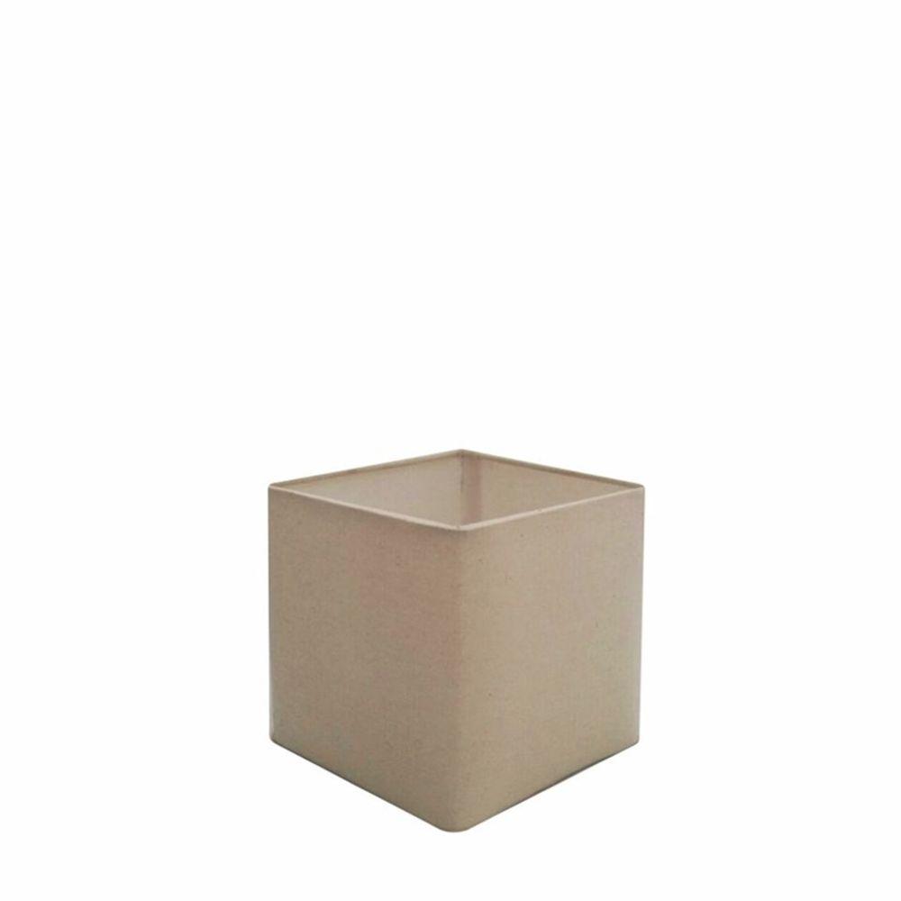 Cúpula em Tecido Quadrada Abajur Luminária Cp-2006 15/13x13cm Algodão Crú