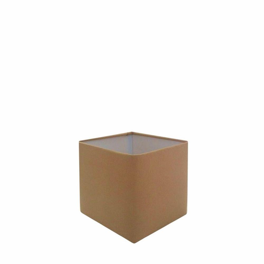 Cúpula em Tecido Quadrada Abajur Luminária Cp-2006 15/13x13cm Palha