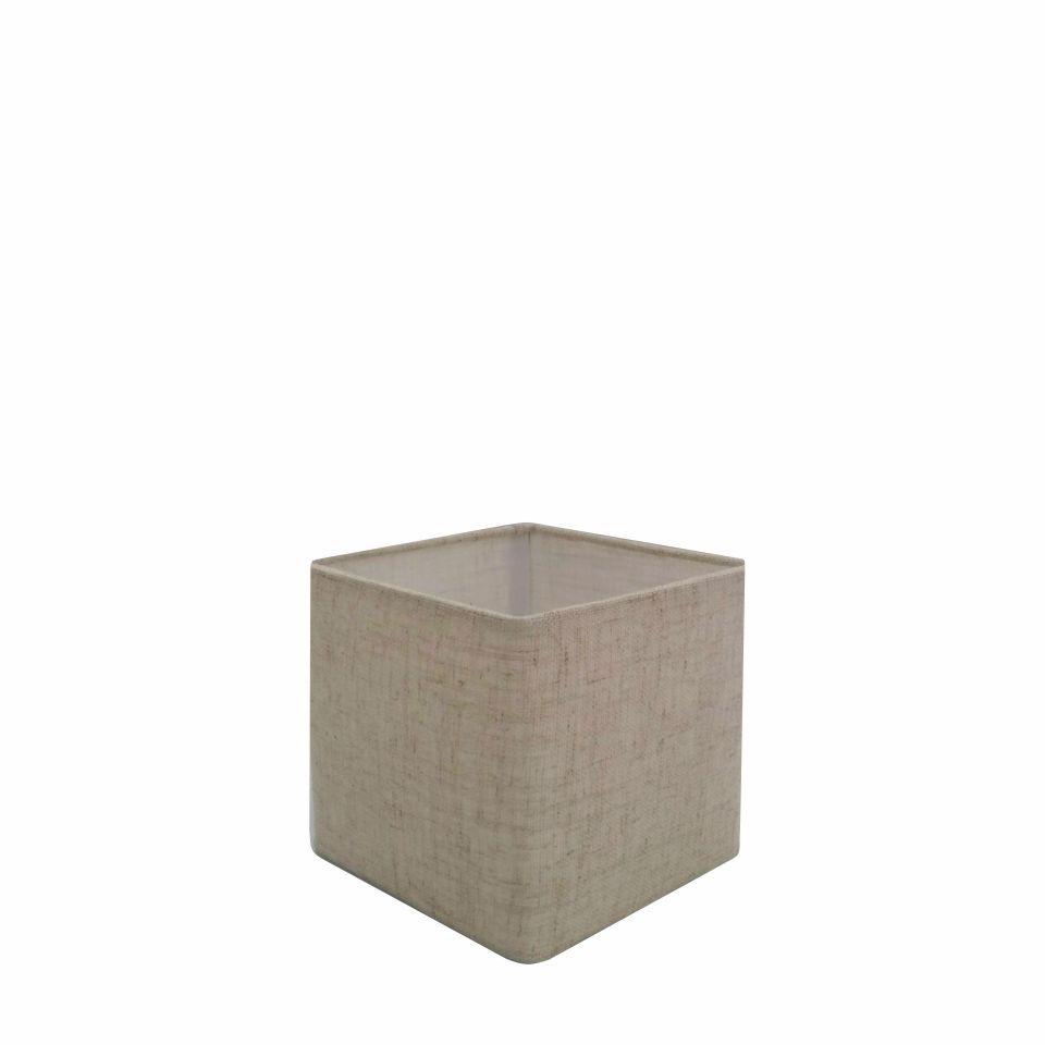 Cúpula em Tecido Quadrada Abajur Luminária Cp-2006 15/13x13cm Rustico Bege
