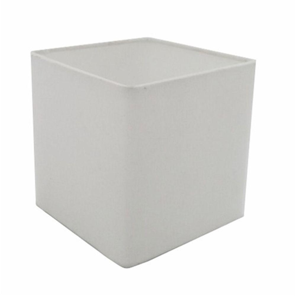 Cúpula em Tecido Quadrada Abajur Luminária Cp-25/25x25cm Branco