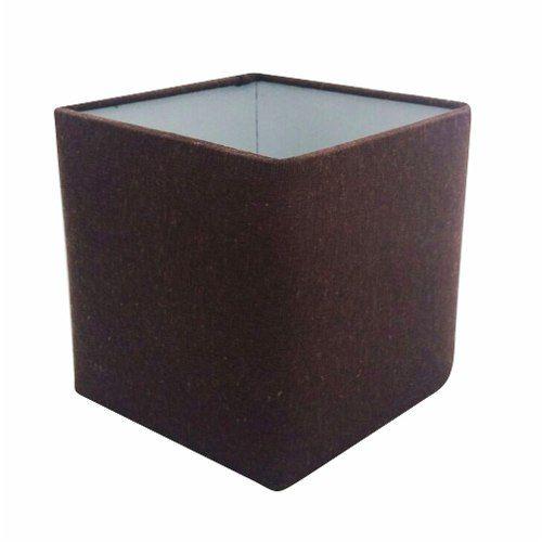 Cúpula em Tecido Quadrada Abajur Luminária Cp-25/25x25cm Café