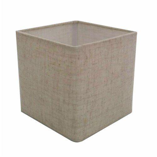 Cúpula em Tecido Quadrada Abajur Luminária Cp-25/25x25cm Rustico Bege