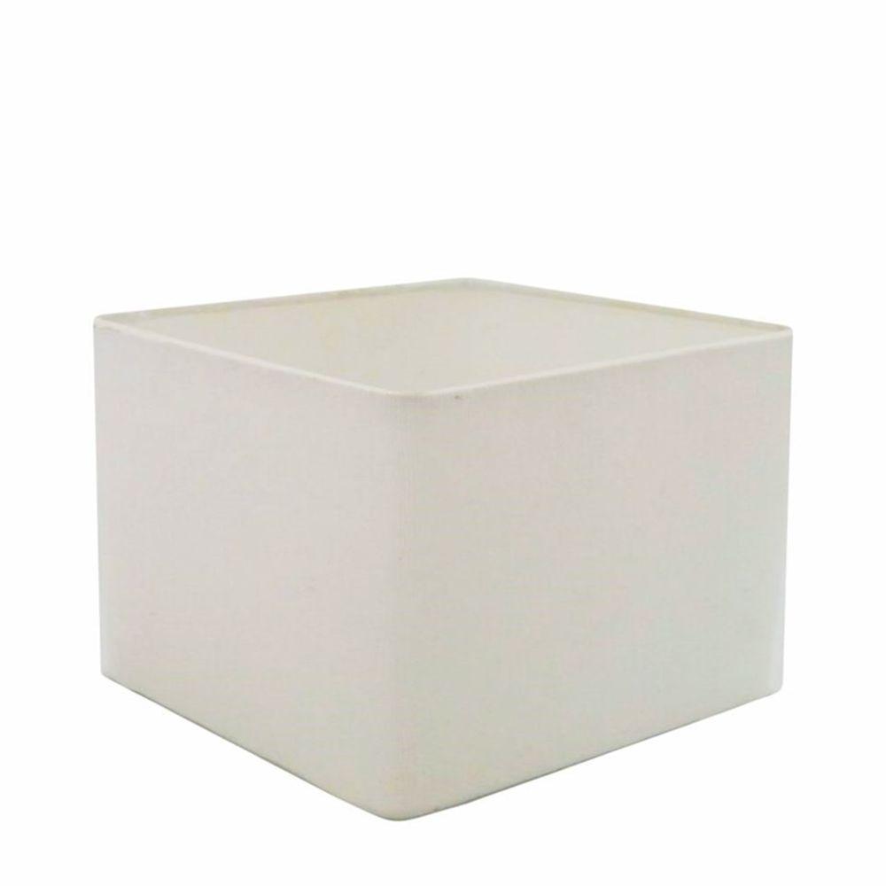 Cúpula em Tecido Quadrada Abajur Luminária Cp-25/35x35cm Branco