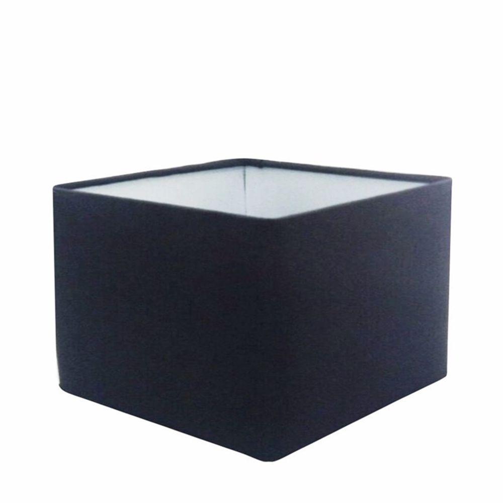 Cúpula em Tecido Quadrada Abajur Luminária Cp-25/35x35cm Preto