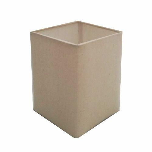 Cúpula em Tecido Quadrada Abajur Luminária Cp-4007 25/16x16cm Algodão Crú