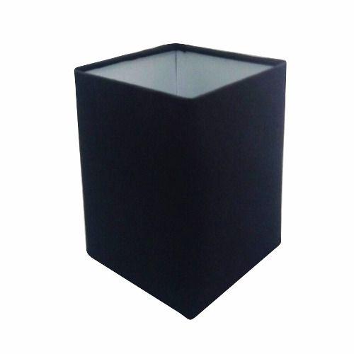 Cúpula em Tecido Quadrada Abajur Luminária Cp-4007 25/16x16cm Preto