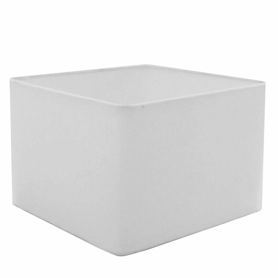 Cúpula em Tecido Quadrada Abajur Luminária Cp-4077 30/50x50cm Branco