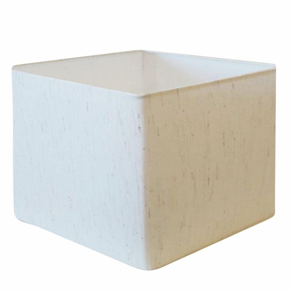 Cúpula em Tecido Quadrada Abajur Luminária Cp-4077 30/50x50cm Linho Bege