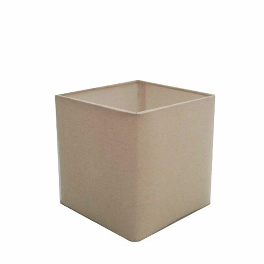 Cúpula em Tecido Quadrada Abajur Luminária Cp-4224 16/16x16cm Algodão Crú