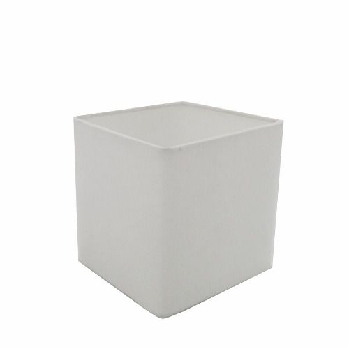 Cúpula em Tecido Quadrada Abajur Luminária Cp-4224 16/16x16cm Branco
