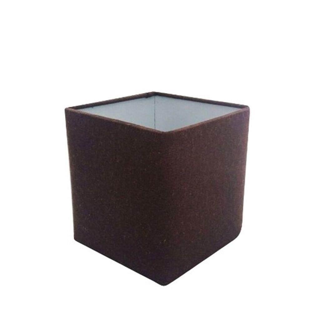 Cúpula em Tecido Quadrada Abajur Luminária Cp-4224 16/16x16cm Café