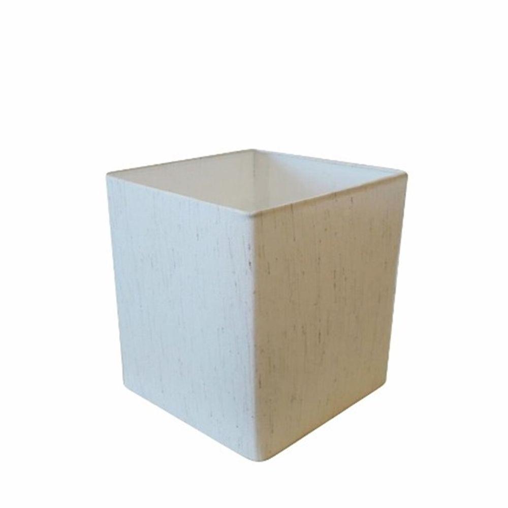 Cúpula em Tecido Quadrada Abajur Luminária Cp-4224 16/16x16cm Linho Bege