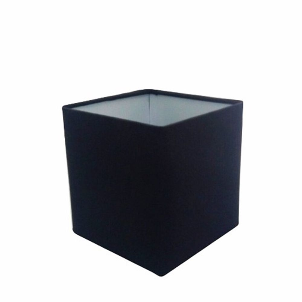 Cúpula em Tecido Quadrada Abajur Luminária Cp-4224 16/16x16cm Preto