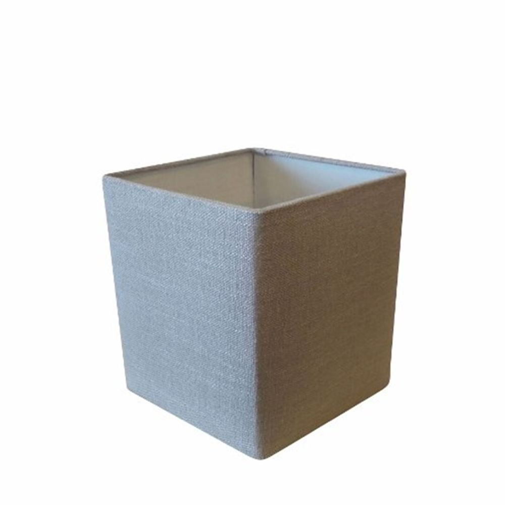 Cúpula em Tecido Quadrada Abajur Luminária Cp-4224 16/16x16cm Rustico Cinza