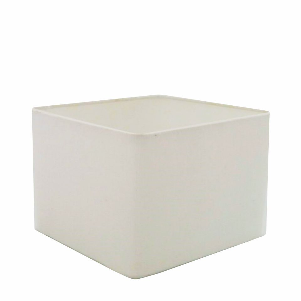 Cúpula em Tecido Quadrada Abajur Luminária Cp-4270 30/35x35cm Branco