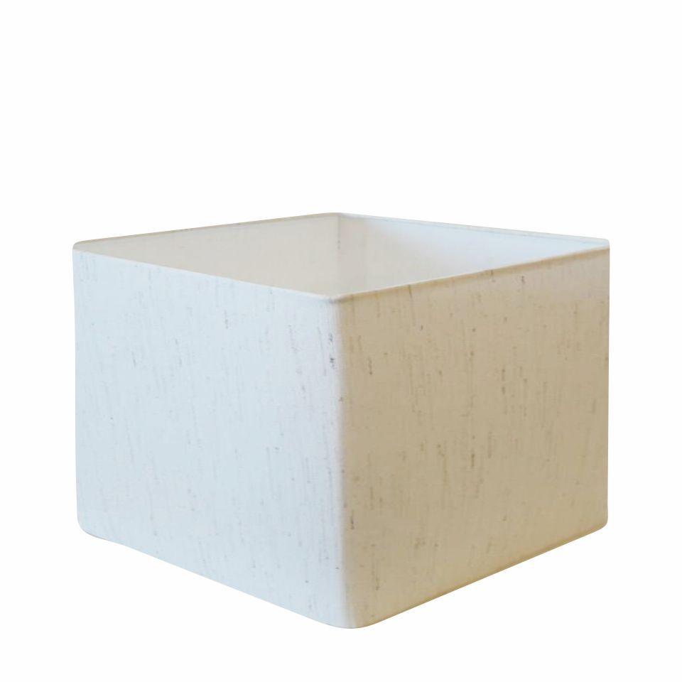 Cúpula em Tecido Quadrada Abajur Luminária Cp-4270 30/35x35cm Linho Bege