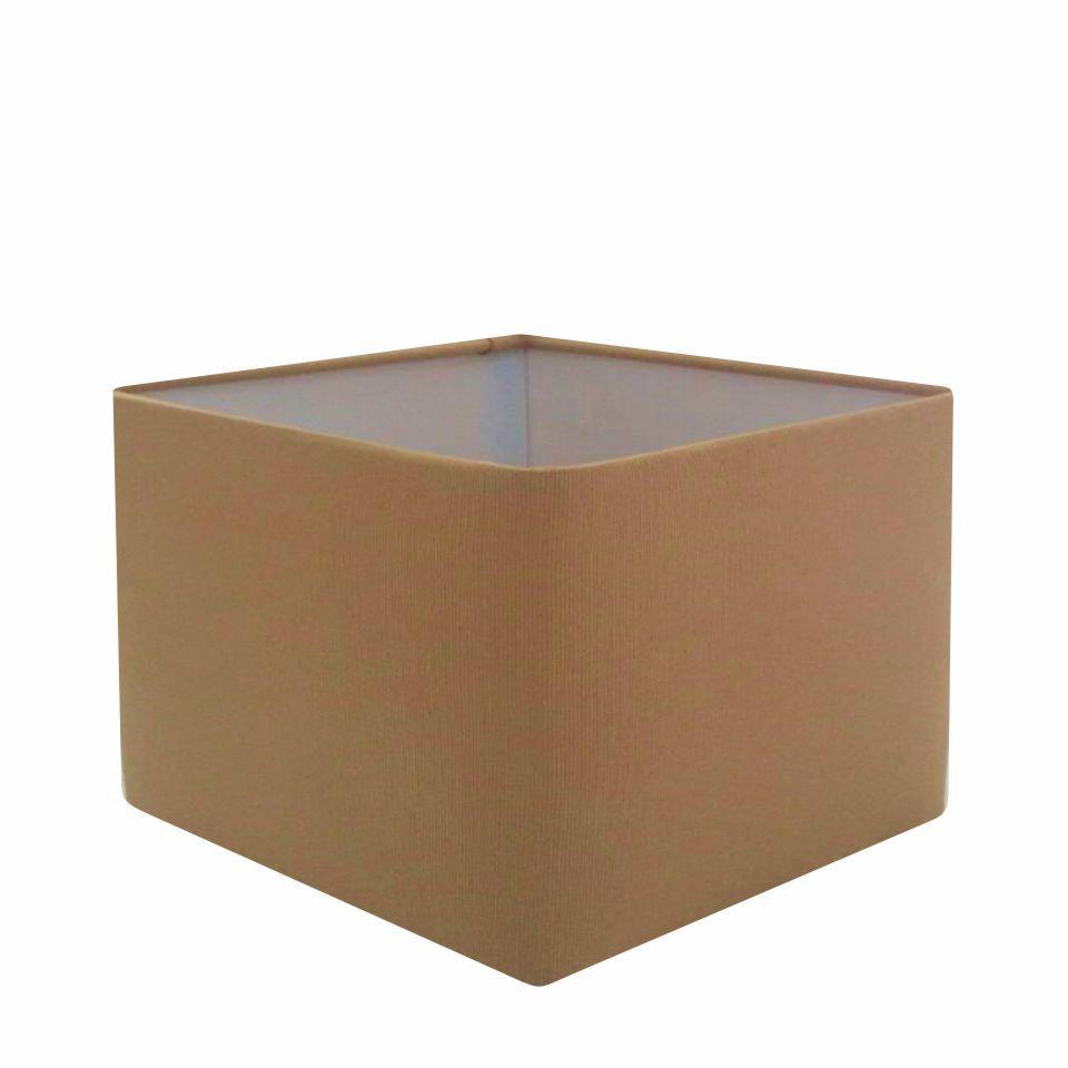 Cúpula em Tecido Quadrada Abajur Luminária Cp-4270 30/35x35cm Palha