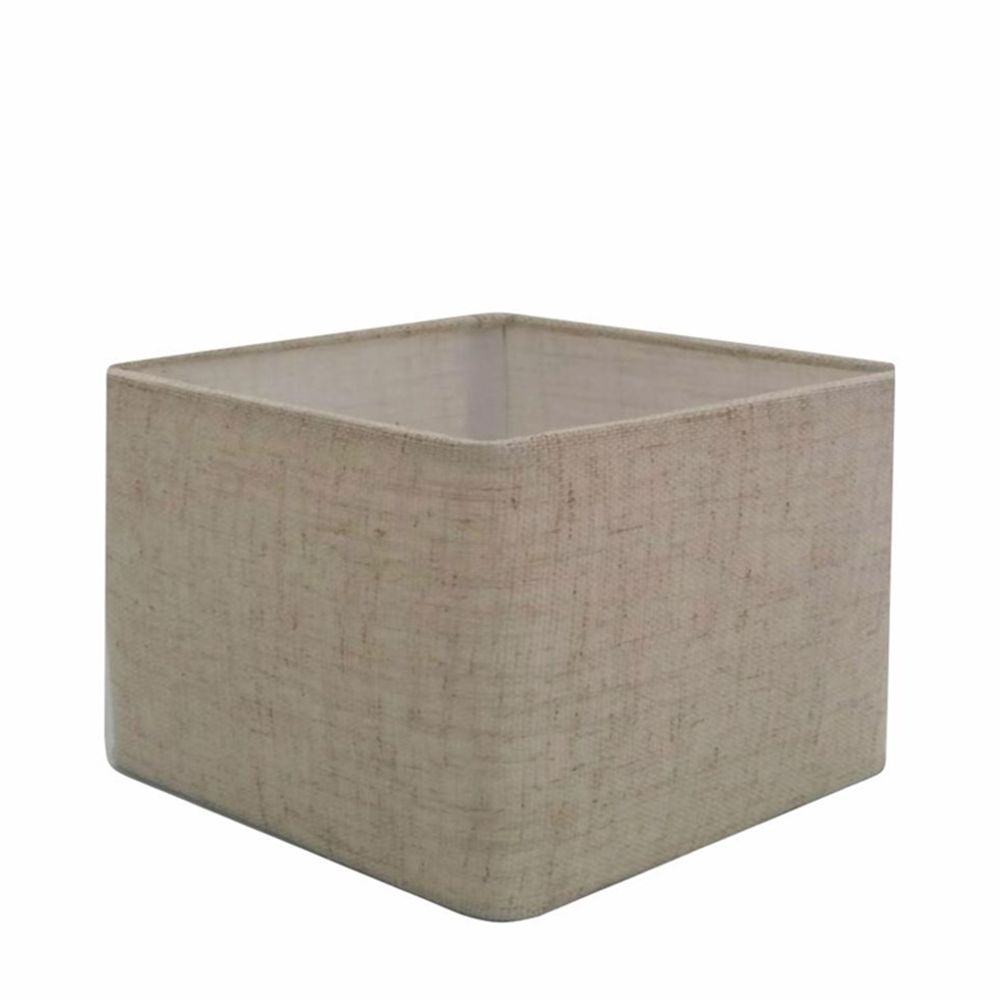Cúpula em Tecido Quadrada Abajur Luminária Cp-4270 30/35x35cm Rustico Bege