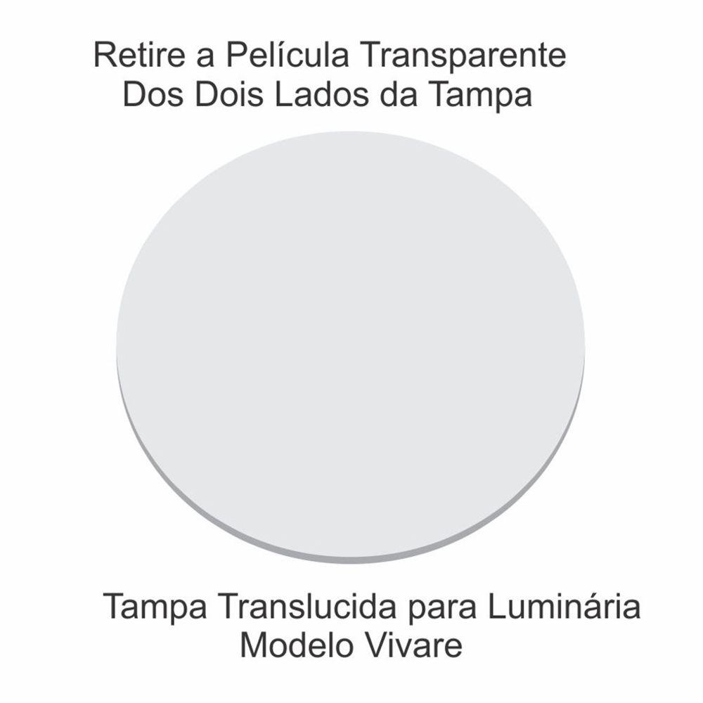 Disco Circular 30cm Branco P/ Lustre Tampa Luminaria 2mm x30cm Td-6004