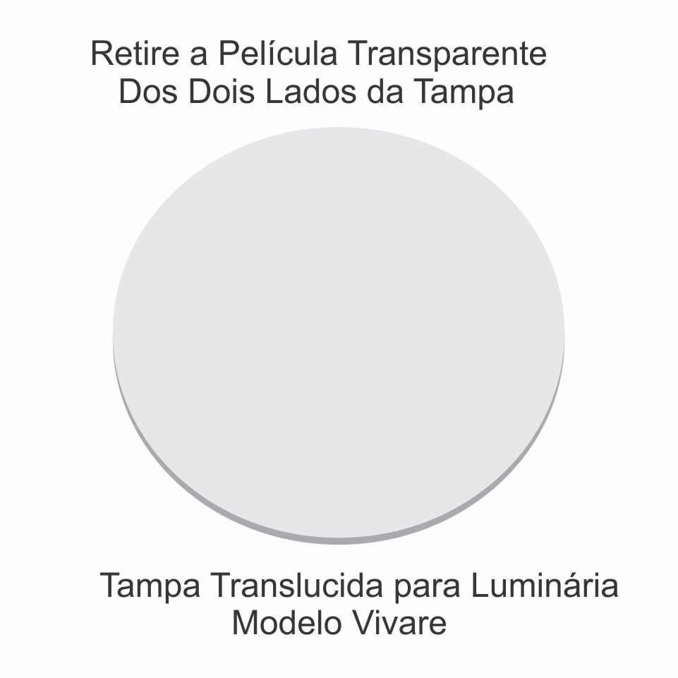 Disco Circular 50cm Branco P/ Lustre Tampa Luminaria 2mm x50cm Td-6004