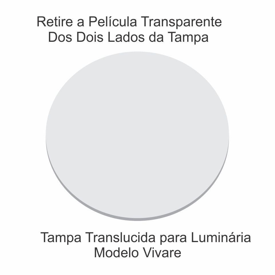 Disco Circular 60cm Branco P/ Lustre Tampa Luminaria 2mm x60cm Td-6004