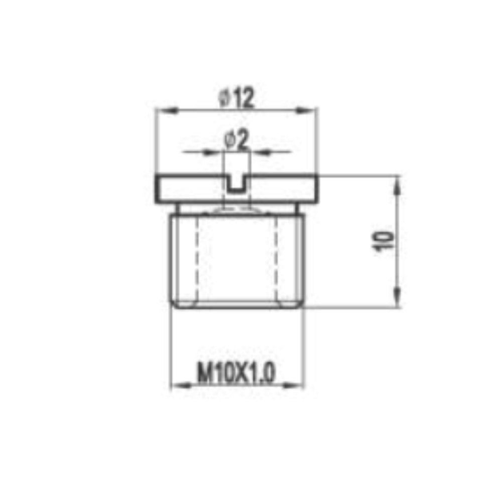 Fixador De Teto Em Aço Niquelado Sem Ajuste Com Rosca M10x1 Com Tampa MD-6007