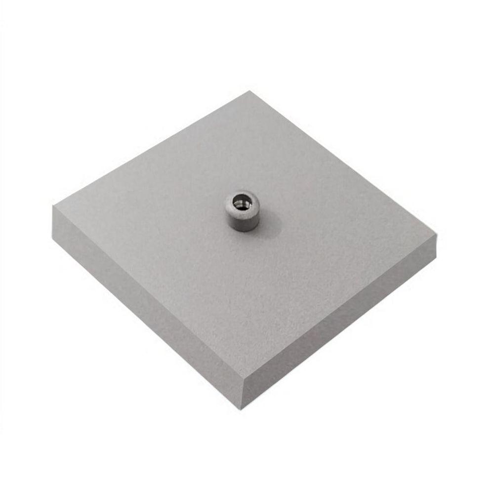 Kit/20 Canopla Lustre Pendente Quadrado Md-1005 12x12x2cm Cinza