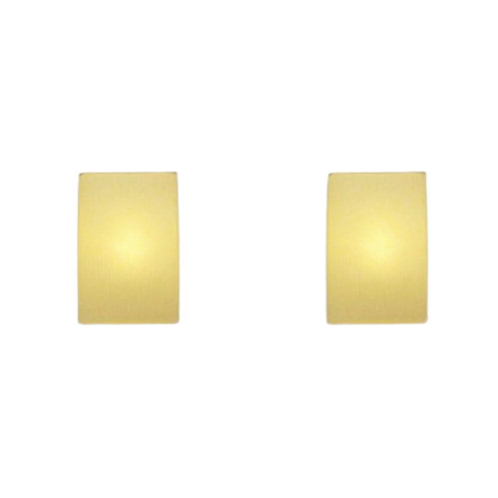 Kit/2 Arandela Retangular Retro Md-2002 Cúpula em Tecido 25/16x10cm Algodão Crú - Bivolt